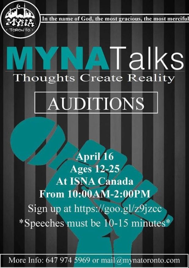 MYNA Talks Auditions